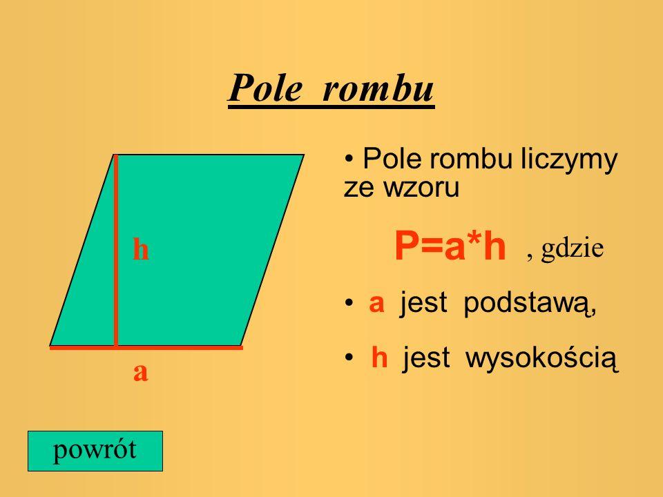 Pole trójkąta prostokątnego a b Aby obliczyć pole trójkąta prostokątnego należy znać jego obydwie przyprostokątne a i b. Pole liczymy ze wzoru P=1/2*a