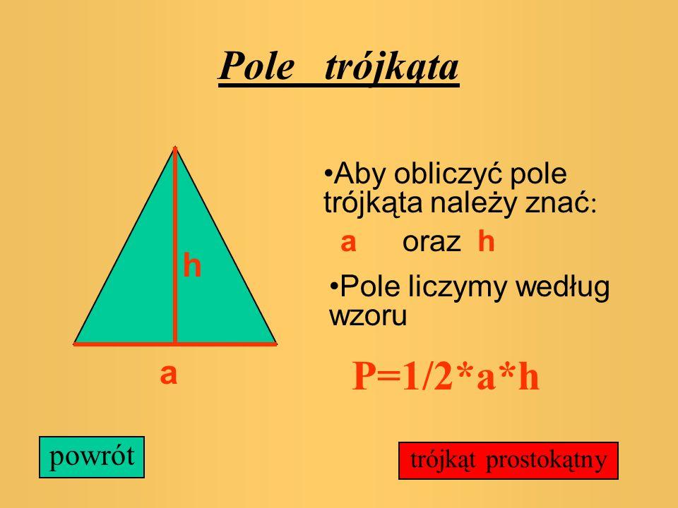Przed tobą wszystkie wielokąty, których znasz wzory na pola. Jeśli nie pamiętasz któregoś możesz sprawdzić. trójkąt prostokąt kwadrat równoległobok ro