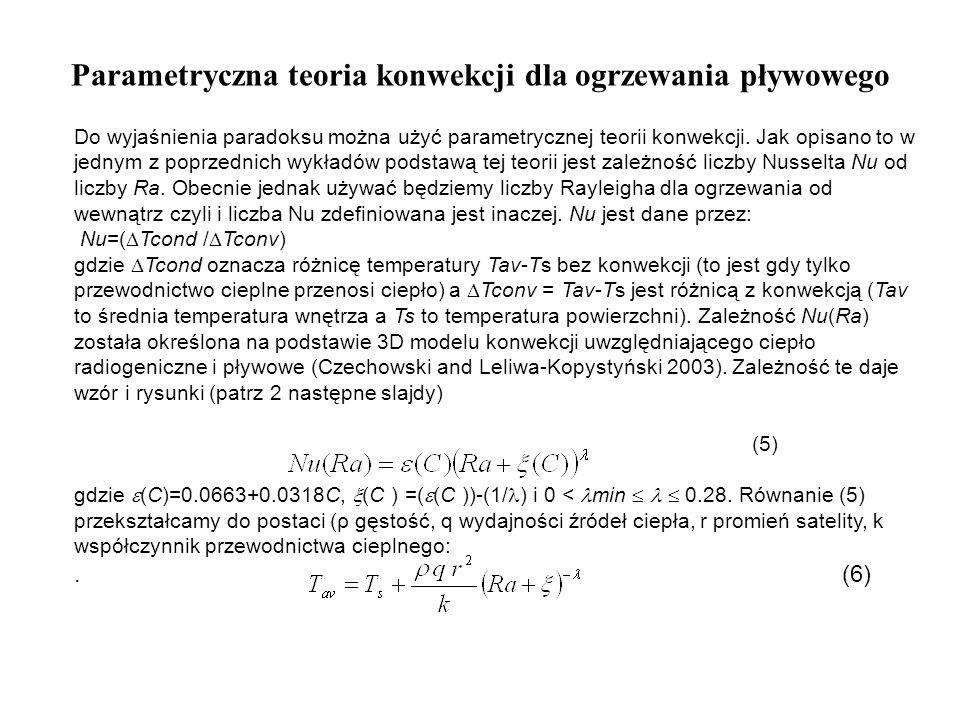 Parametryczna teoria konwekcji dla ogrzewania pływowego Do wyjaśnienia paradoksu można użyć parametrycznej teorii konwekcji. Jak opisano to w jednym z