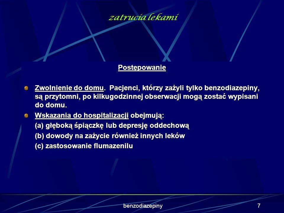 37 Zespół cholinolityczny Objawy obwodowe Przyspieszenie akcji serca · Zaburzenia rytmu serca · Rozszerzenie źrenic · Zatrzymanie moczu · Atonia jelit · Hypertermia · Suchość błon śluzowych Czerwona, sucha skóra