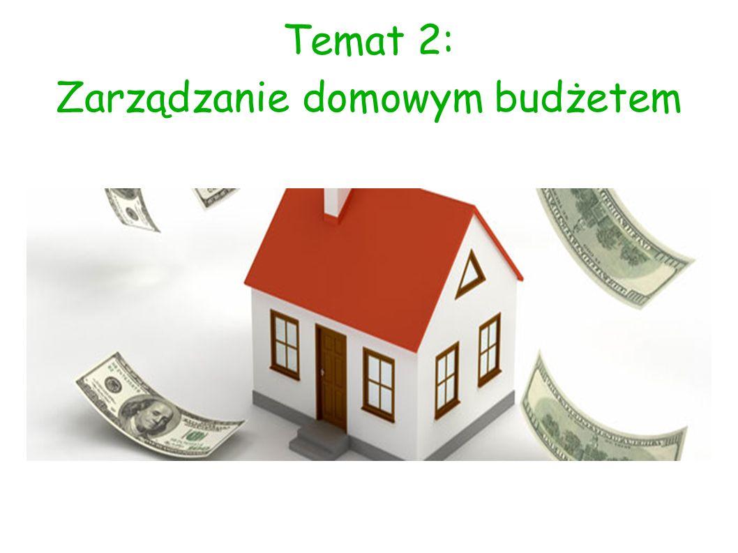 Temat 2: Zarządzanie domowym budżetem