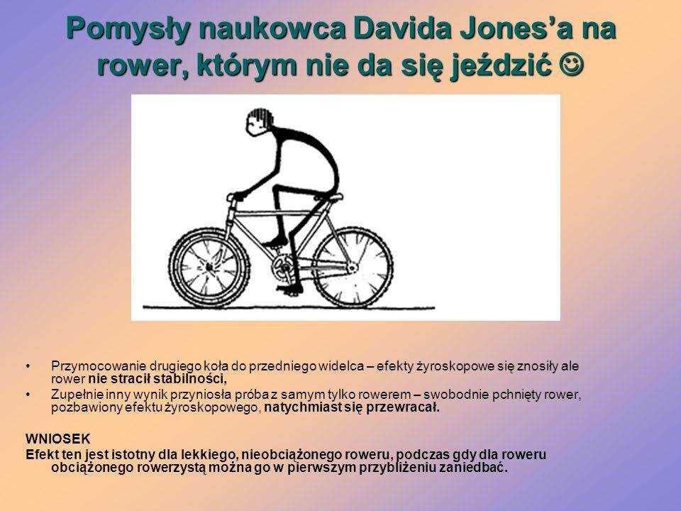 Pomysły naukowca Davida Jonesa na rower, którym nie da się jeździć Pomysły naukowca Davida Jonesa na rower, którym nie da się jeździć Przymocowanie dr