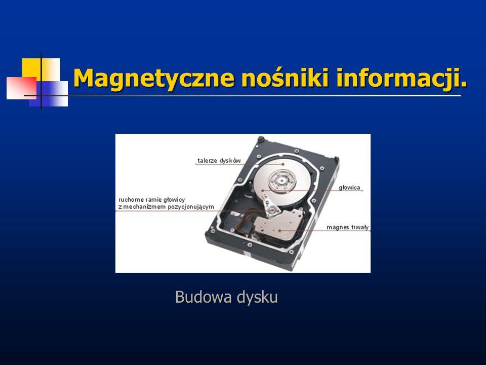 Magnetyczne nośniki informacji. Budowa dysku
