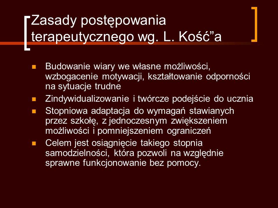 Zasady postępowania terapeutycznego wg.L.
