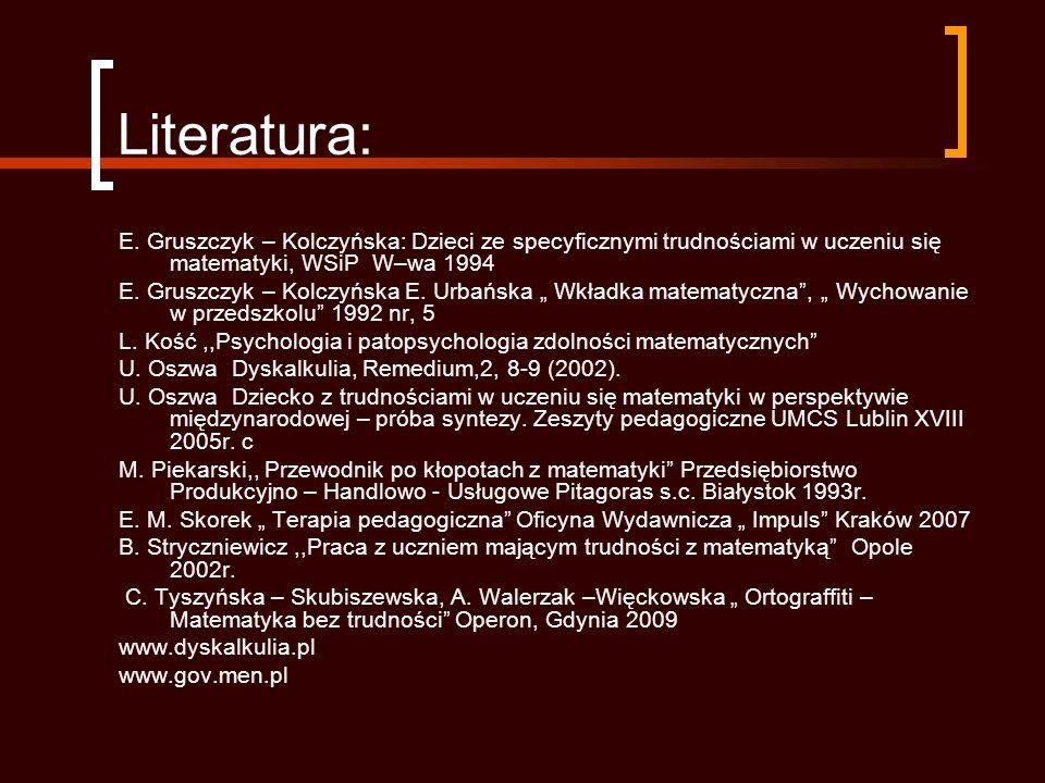 Literatura: E.