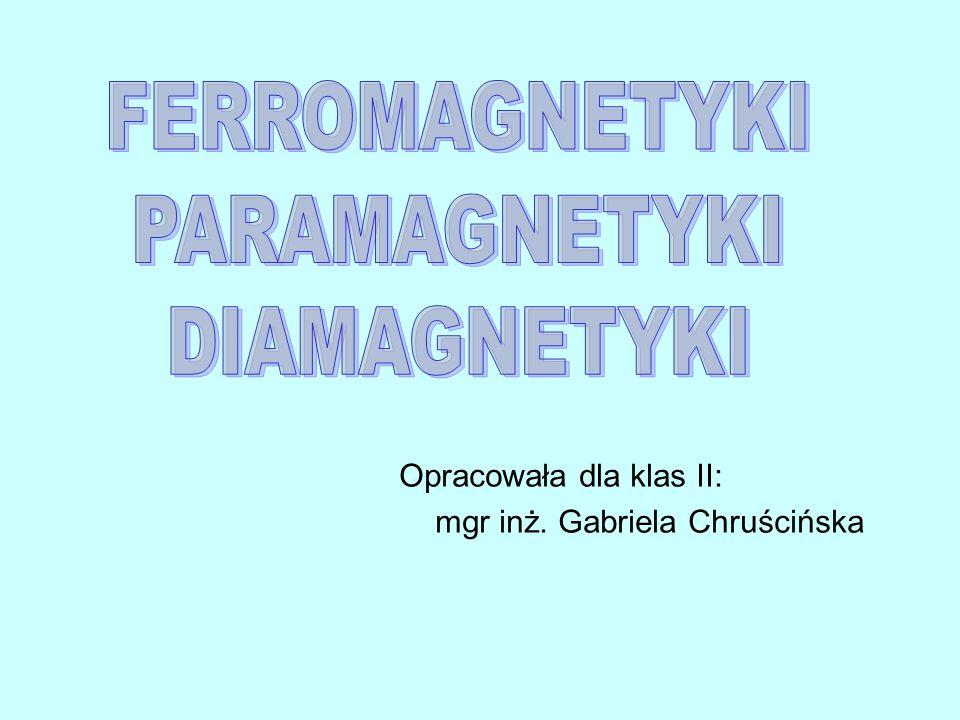 Opracowała dla klas II: mgr inż. Gabriela Chruścińska