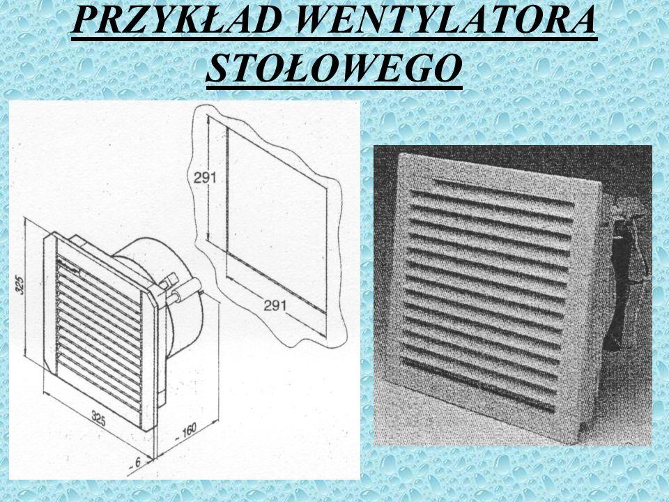 ZASTOSOWANIE Wentylatory stosuje się do wentylacji mechanicznej, klimatyzacji, odpylania, suszenia, transportu materiałów sypkich i włóknistych ( np.
