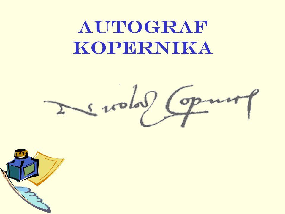 AUTOGRAF KOPERNIKA