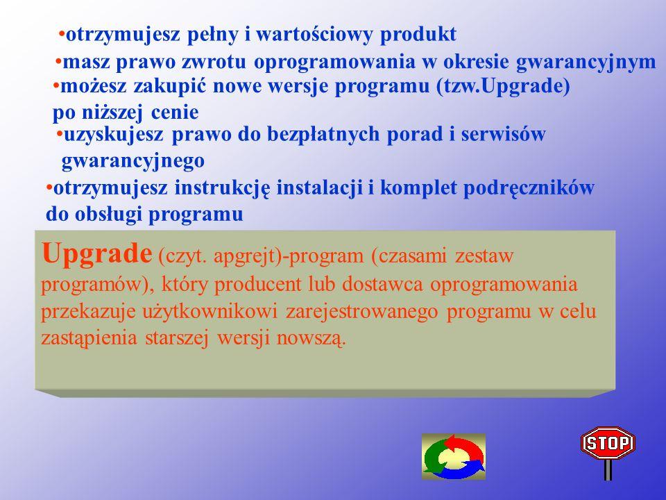 PRAWO AUTORSKIE- prawo chroniące twórcę programów przed ich rozpowszechnianiem i używaniem bez jego zgody. W Polsce prawo to jest regulowane Ustawą o