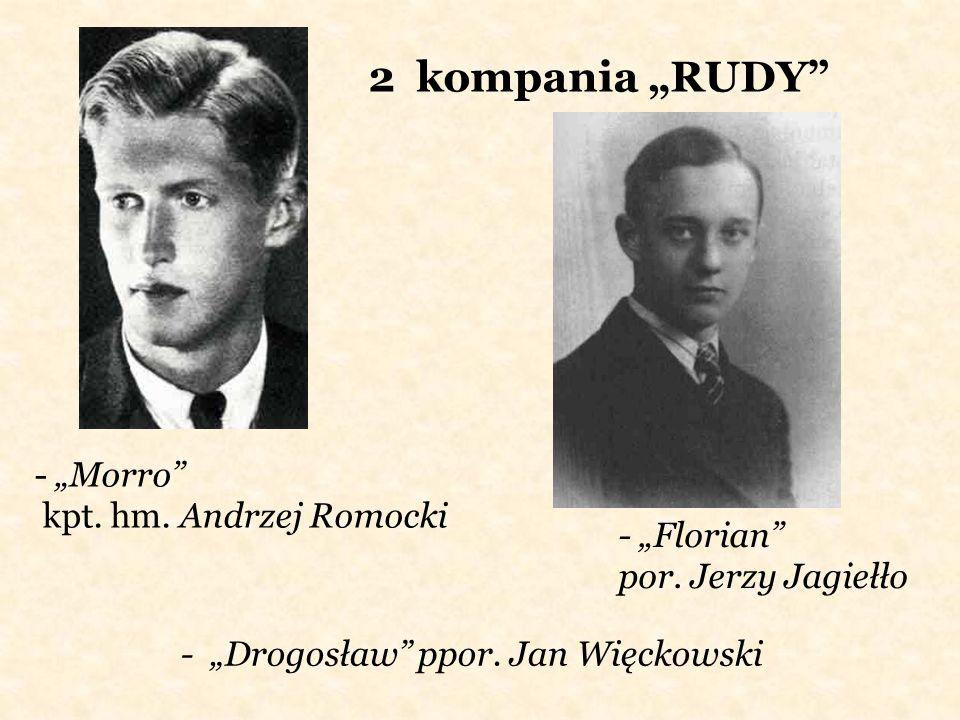 2 kompania RUDY - Morro kpt. hm. Andrzej Romocki - Florian por. Jerzy Jagiełło - Drogosław ppor. Jan Więckowski