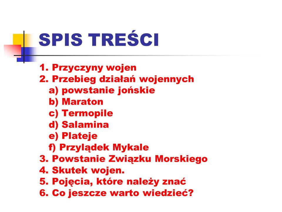 SPIS TREŚCI 1. Przyczyny wojen 2.