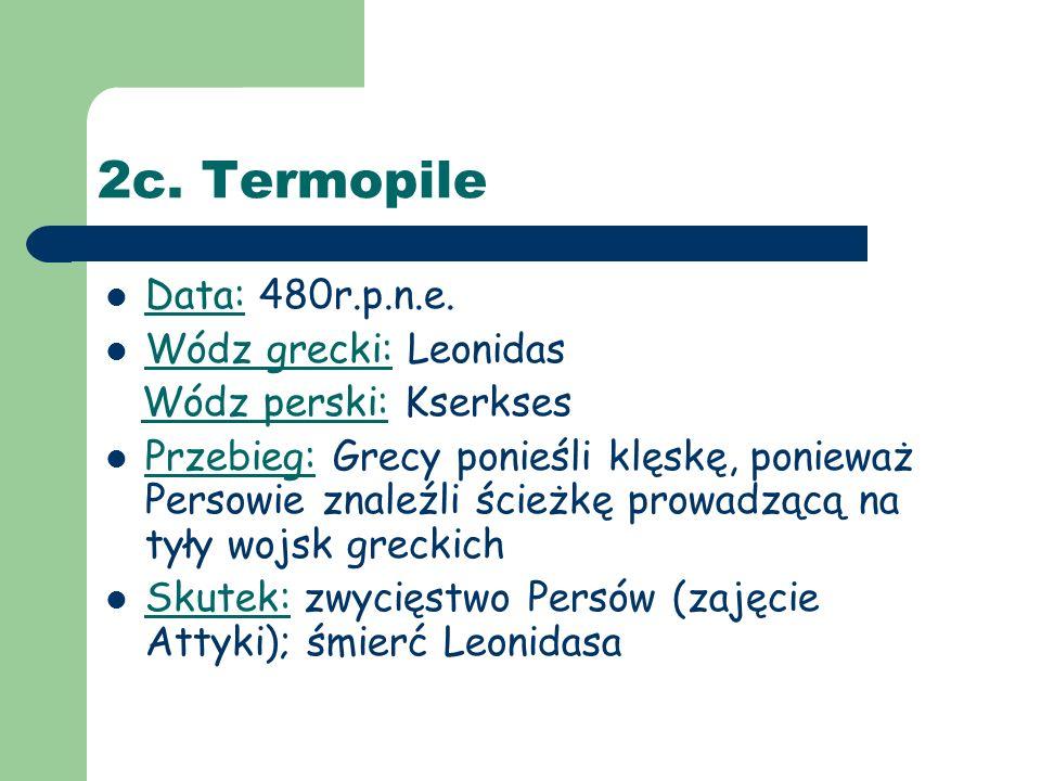 2d.Salamina (Zatoka Salamińska) Data: 480r.p.n.e.