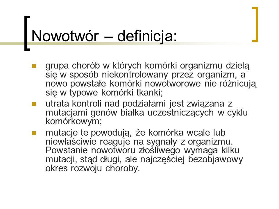 Nowotwór – rozwój mutacji: