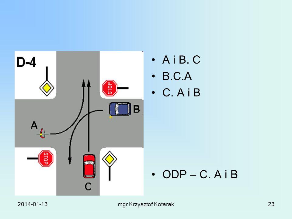 2014-01-13mgr Krzysztof Kotarak23 A i B. C B.C.A C. A i B ODP – C. A i B