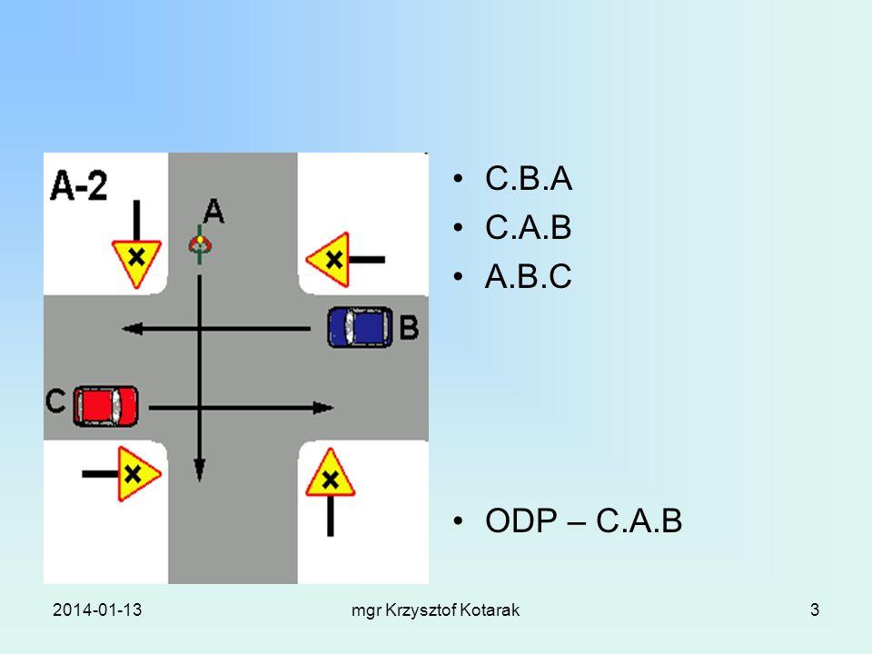 2014-01-13mgr Krzysztof Kotarak3 C.B.A C.A.B A.B.C ODP – C.A.B