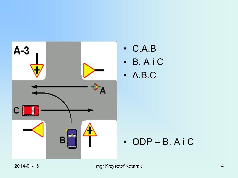 2014-01-13mgr Krzysztof Kotarak4 C.A.B B. A i C A.B.C ODP – B. A i C