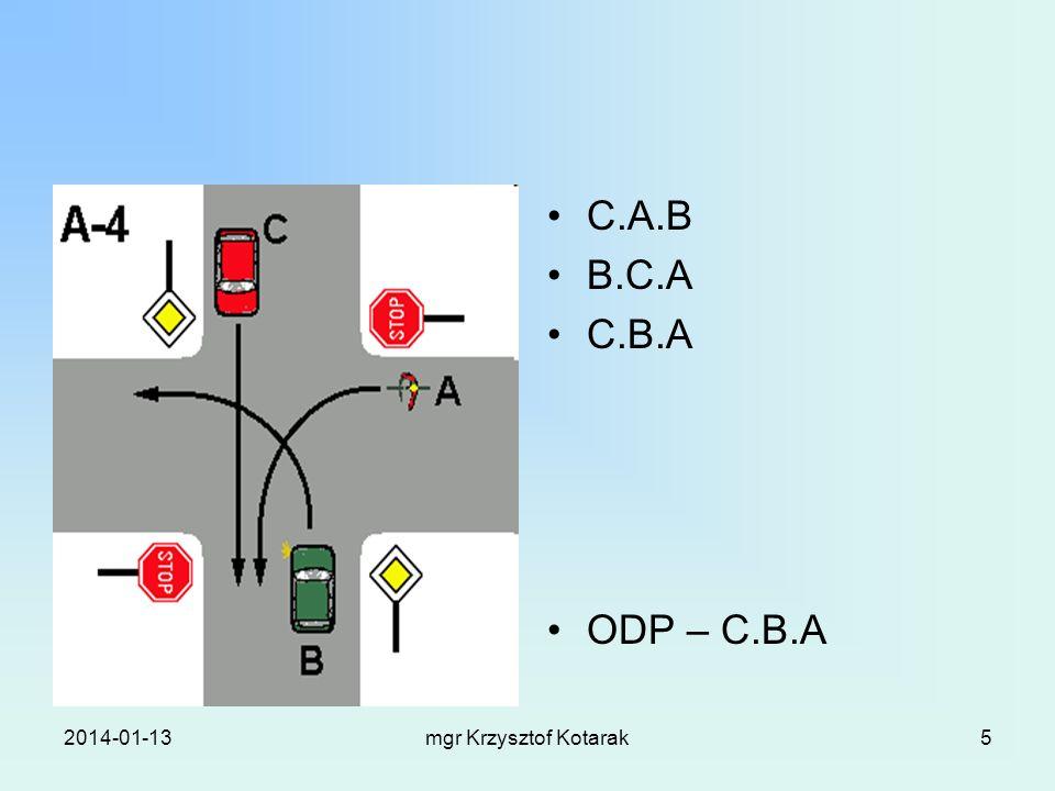 2014-01-13mgr Krzysztof Kotarak5 C.A.B B.C.A C.B.A ODP – C.B.A