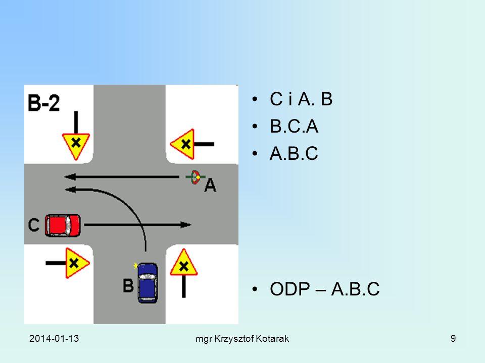 2014-01-13mgr Krzysztof Kotarak9 C i A. B B.C.A A.B.C ODP – A.B.C