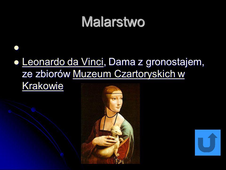 Malarstwo Leonardo da Vinci, Dama z gronostajem, ze zbiorów Muzeum Czartoryskich w Krakowie Leonardo da Vinci, Dama z gronostajem, ze zbiorów Muzeum Czartoryskich w Krakowie Leonardo da VinciMuzeum Czartoryskich w Krakowie Leonardo da VinciMuzeum Czartoryskich w Krakowie