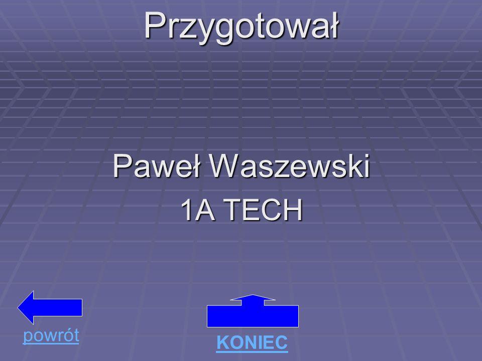 Przygotował Paweł Waszewski 1A TECH KONIEC powrót