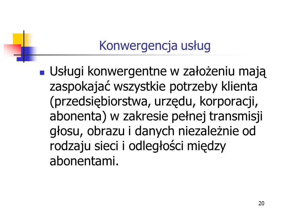 21 Konwergencja usług Rysunek 2.6. Istota konwergencji usług