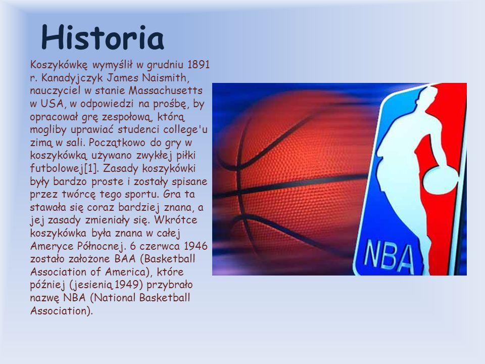 Historia Koszykówkę wymyślił w grudniu 1891 r.