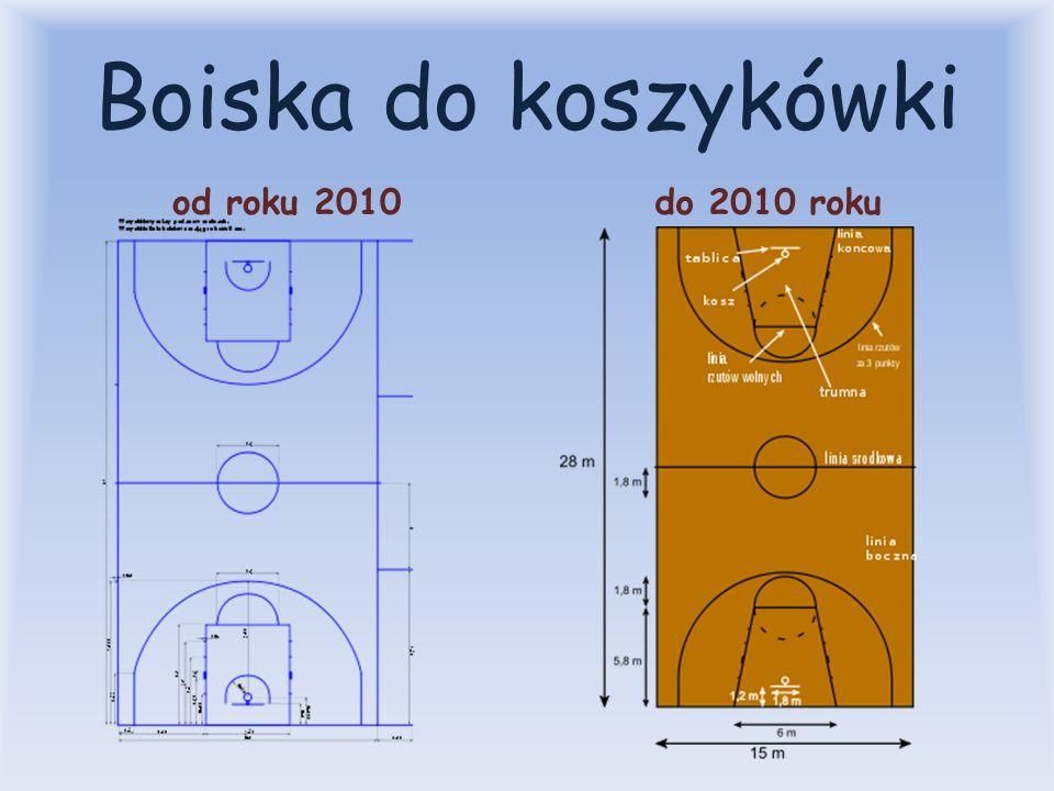 Boiska do koszykówki od roku 2010do 2010 roku