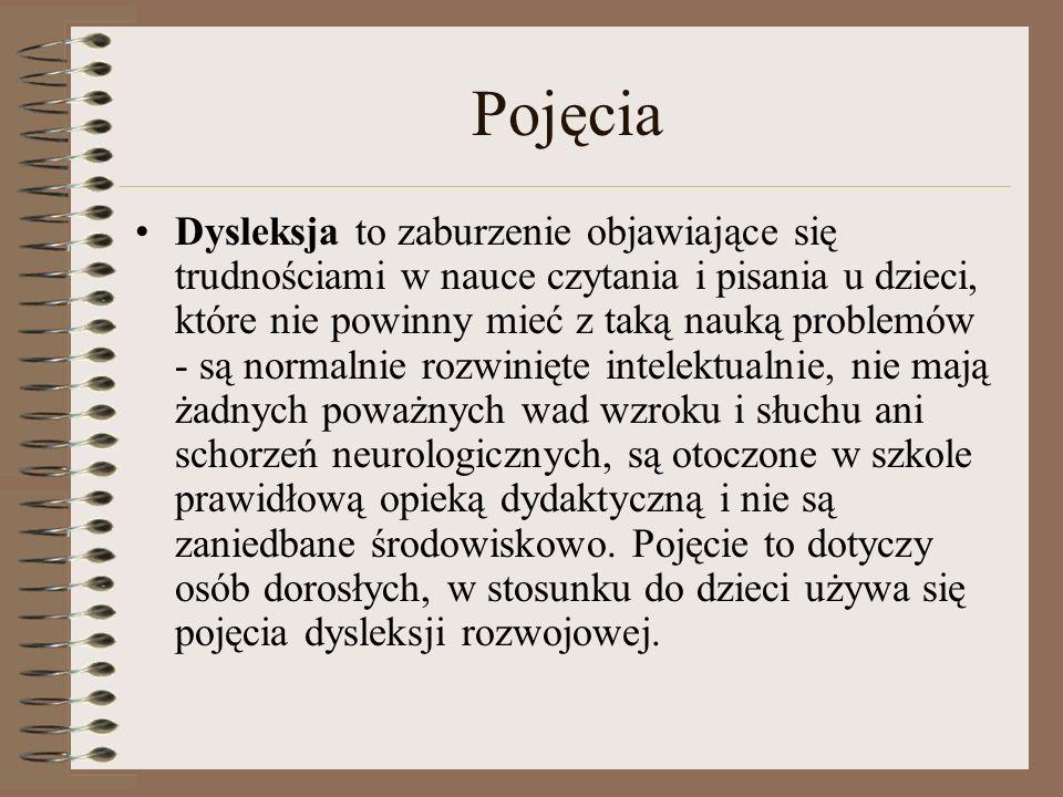 Dysleksja rozwojowa Dysleksja rozwojowa to specyficzne trudności w uczeniu się m.