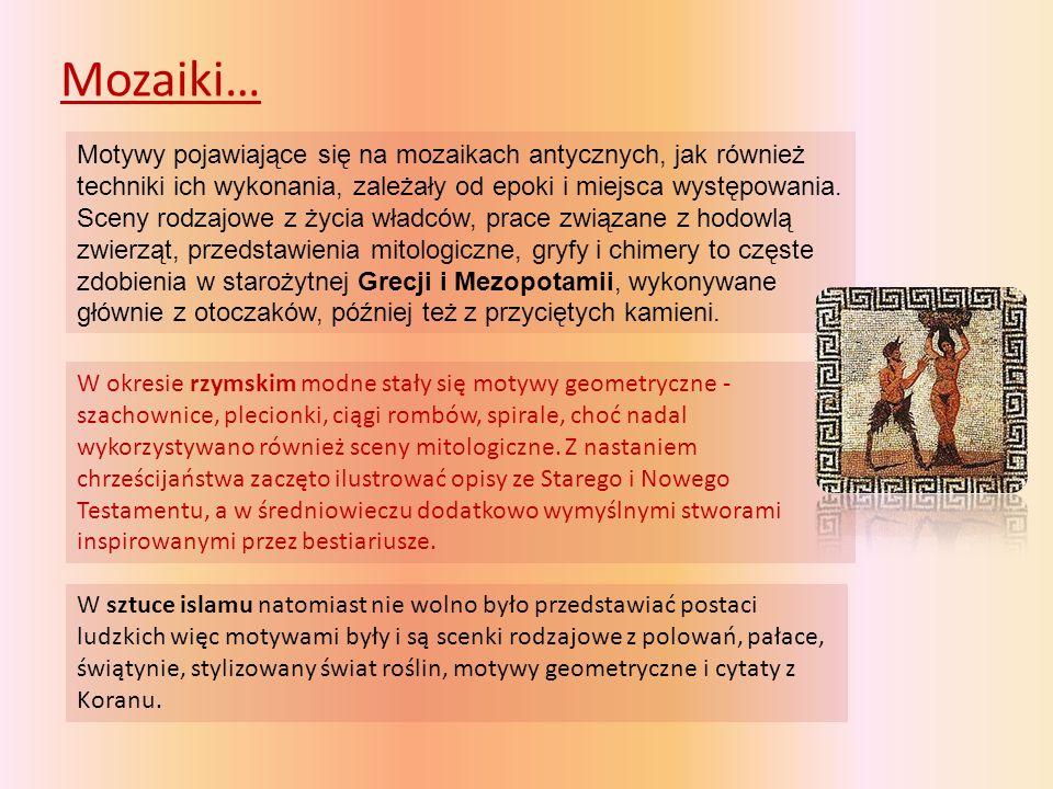 Mozaiki greckie, rzymskie i islamskie… Grecka mozaika Aleksandra Wielkiego Mozaika w Haga Sofia mozaika, sztuka islamska mozaika, sztuka islamska Maska Acheloosa, rzymska mozaika Amfitryta i Neptun, mozaika grecka