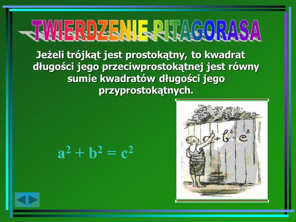 A teraz przejdźmy do Twierdzenia Pitagorasa...