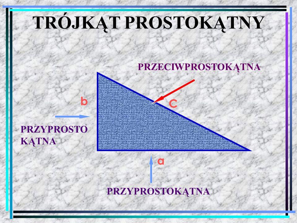 Trójkąt prostokątny, którego boki mają długość: 3, 4, 5, nazywamy trójkątem pitagorejskim.