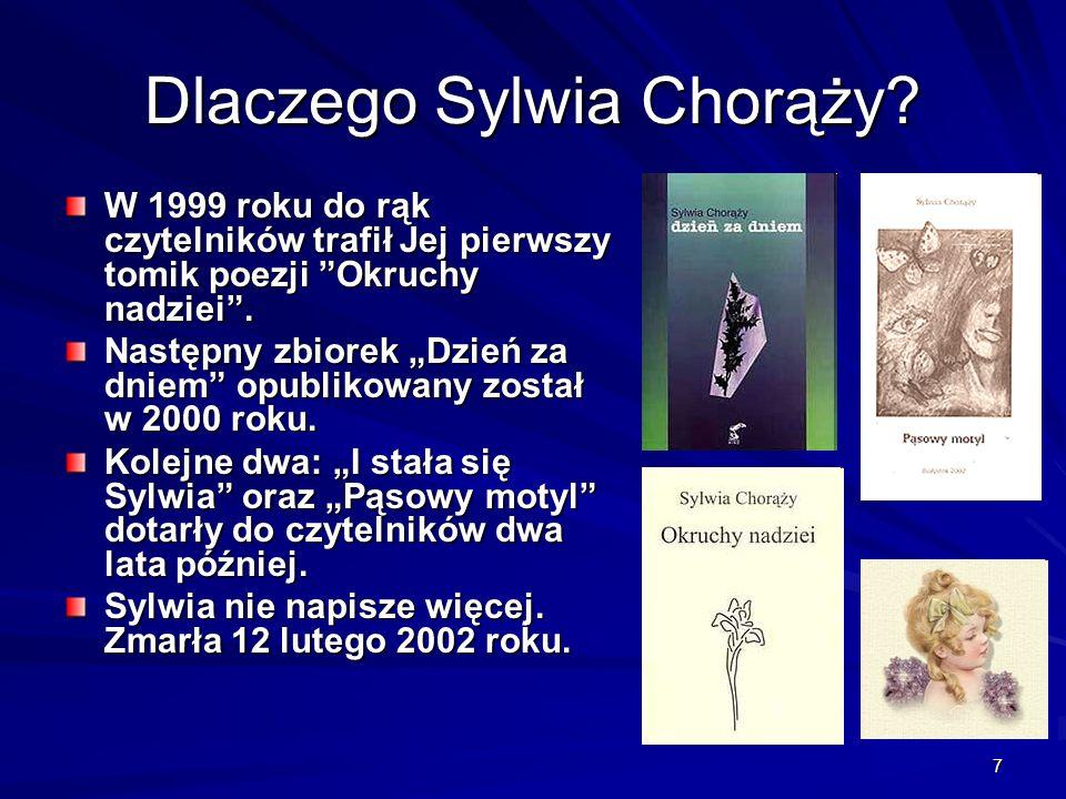 7 W 1999 roku do rąk czytelników trafił Jej pierwszy tomik poezji Okruchy nadziei. Następny zbiorek Dzień za dniem opublikowany został w 2000 roku. Ko