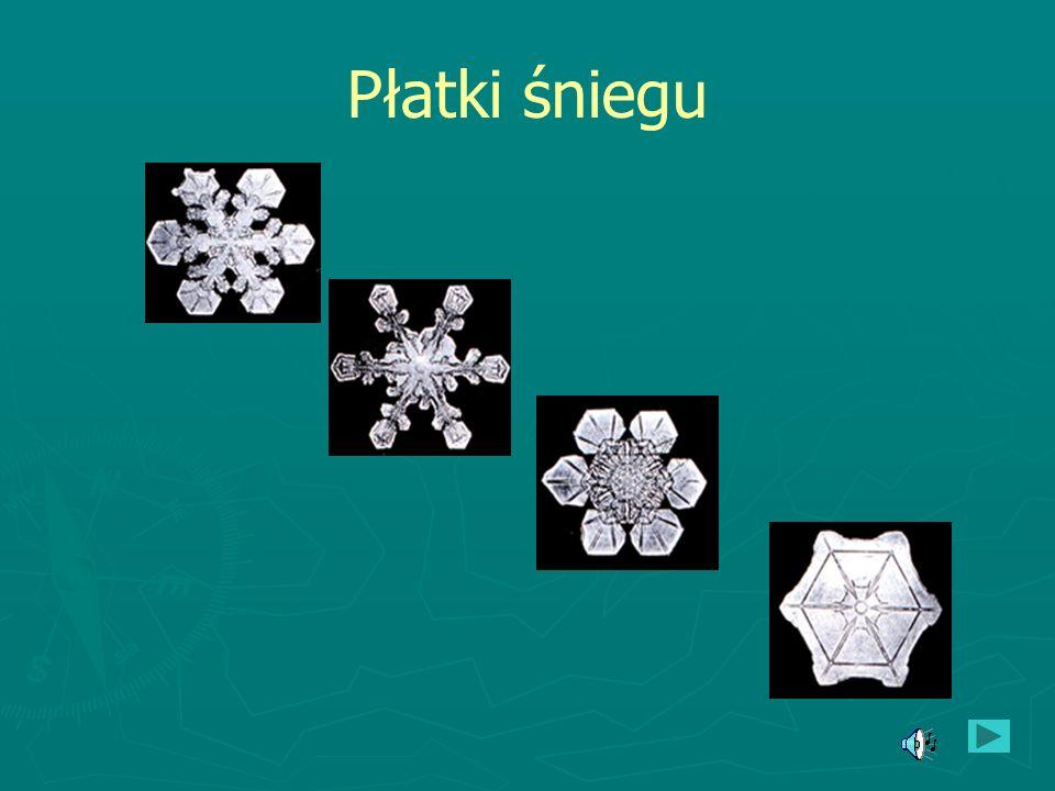 Śnieg Śnieg - opad atmosferyczny w postaci kryształków lodu o kształtach głównie sześcioramiennych gwiazdek, łączących się w płatki śniegu. Tworzy na