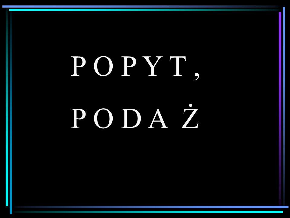 P O P Y T, P O D A Ż