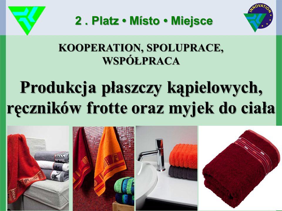 Produkcja płaszczy kąpielowych, ręczników frotte oraz myjek do ciała