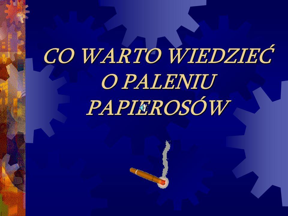 Każdego roku 100 tys.zgonów w Polsce ma bezpośredni związek z paleniem tytoniu.
