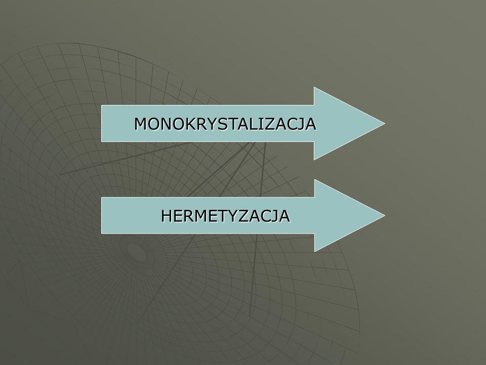 MONOKRYSTALIZACJA HERMETYZACJA