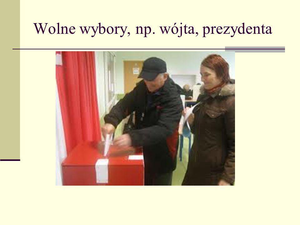 Wolne wybory, np. wójta, prezydenta