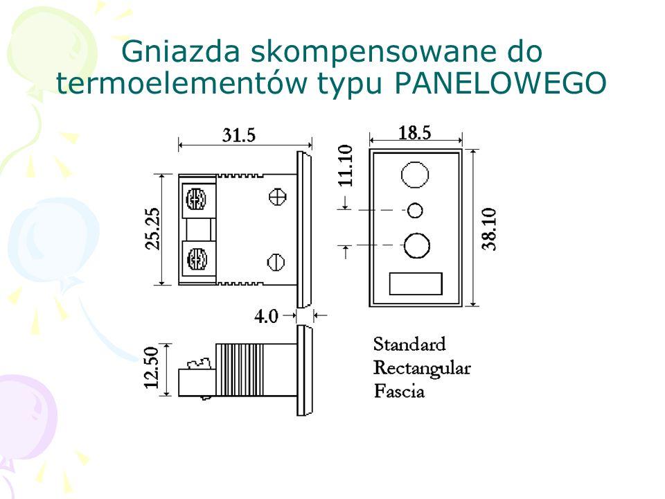 Gniazda skompensowane do termoelementów typu PANELOWEGO