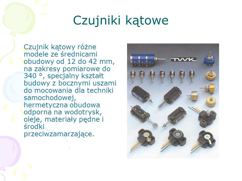 Czujniki kątowe Czujnik kątowy różne modele ze średnicami obudowy od 12 do 42 mm, na zakresy pomiarowe do 340 °, specjalny kształt budowy z bocznymi u