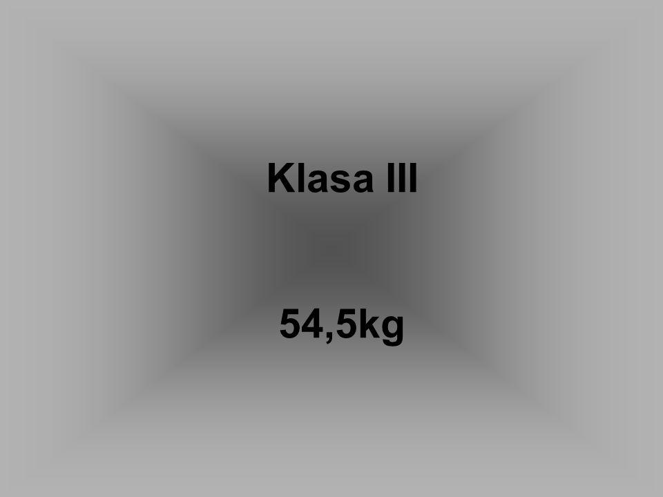 Klasa III 54,5kg