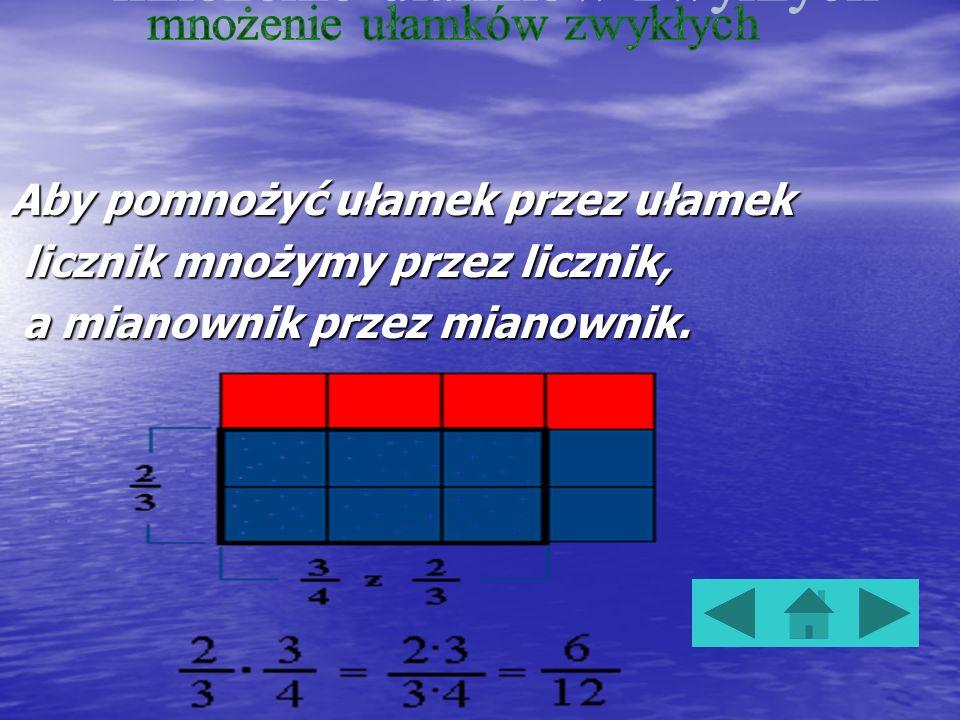 Aby odjąć dwa ułamki zwykłe o jednakowych mianownikach, odejmujemy liczniki tych ułamków, a mianownik pozostawiamy bez zmian. Aby odjąć dwa ułamki zwy