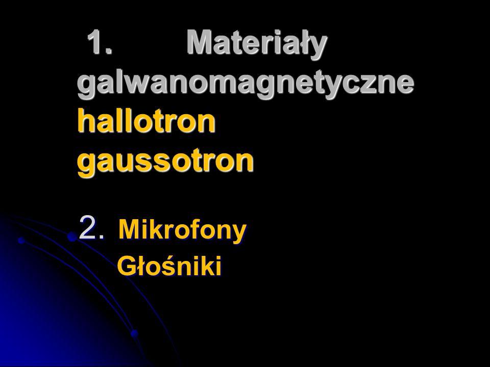 1.Materiały galwanomagnetyczne hallotron gaussotron 1.