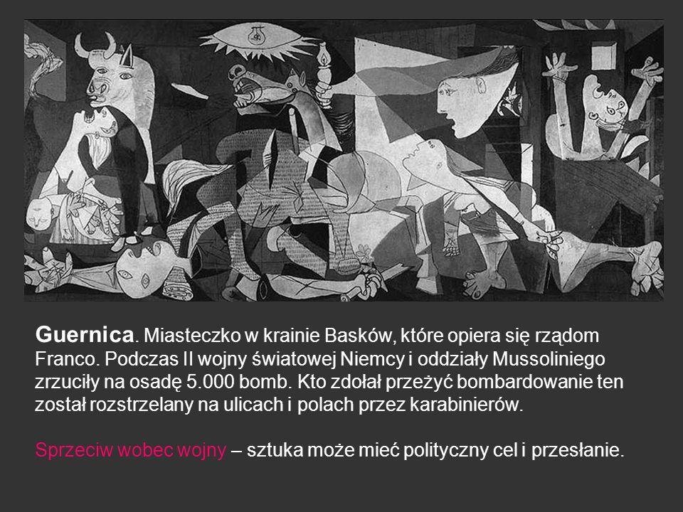 Guernica. Miasteczko w krainie Basków, które opiera się rządom Franco. Podczas II wojny światowej Niemcy i oddziały Mussoliniego zrzuciły na osadę 5.0