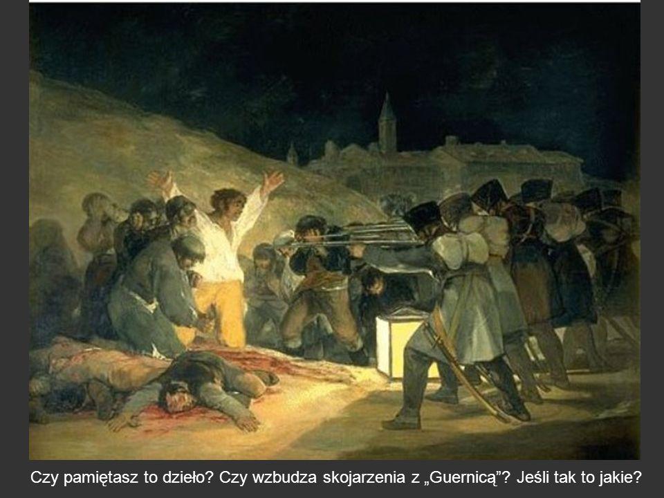 Czy pamiętasz to dzieło? Czy wzbudza skojarzenia z Guernicą? Jeśli tak to jakie?