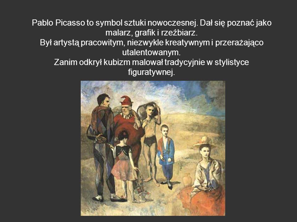 Pablo Picasso to symbol sztuki nowoczesnej. Dał się poznać jako malarz, grafik i rzeźbiarz. Był artystą pracowitym, niezwykle kreatywnym i przerażając