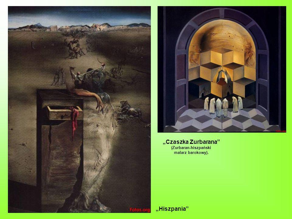 Czaszka Zurbarana (Zurbaran-hiszpański malarz barokowy). Hiszpania