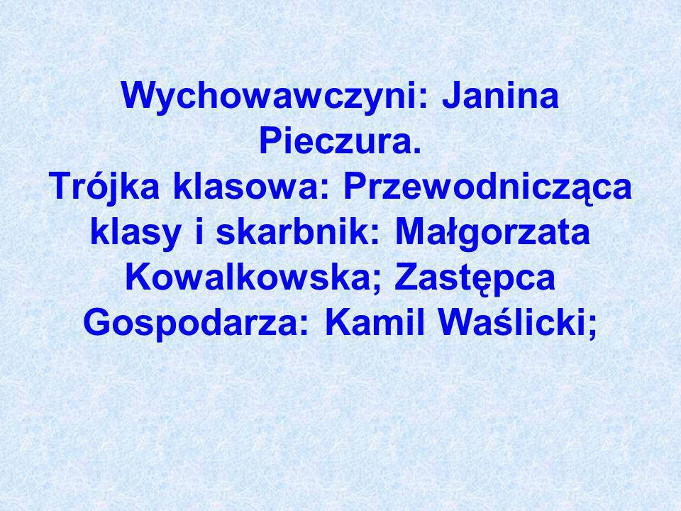 Wychowawczyni: Janina Pieczura.