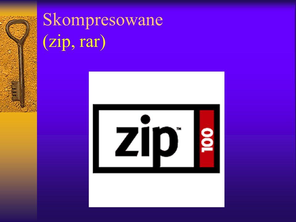 Skompresowane (zip, rar)