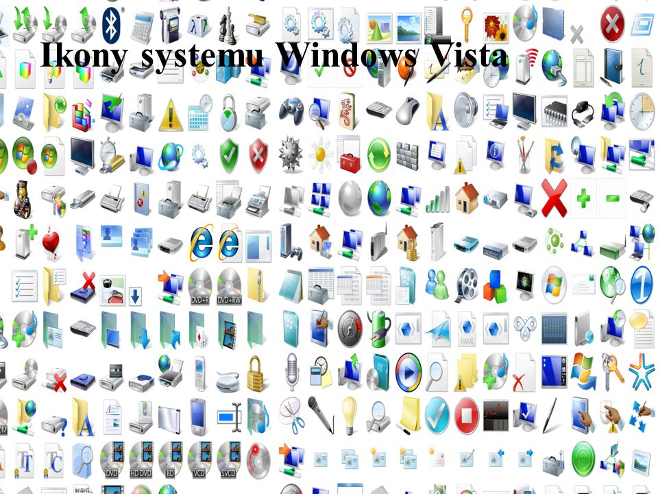 5 Ikony systemu Windows Vista